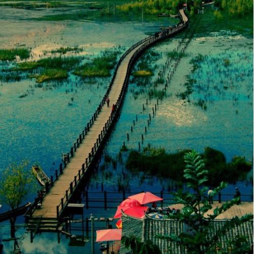 旅行,泸沽湖,走婚桥