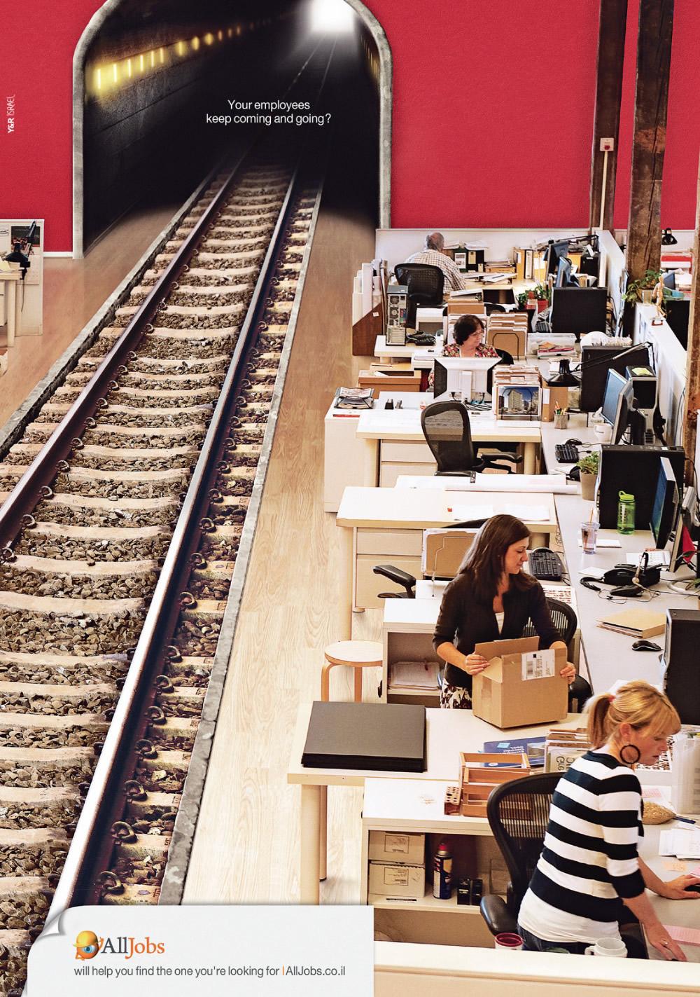 猎头创意广告:员工就像火车一样